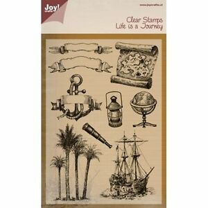 Nautical Journey Clear Unmounted Rubber Stamp Set Joy! Crafts 6410/0394 New