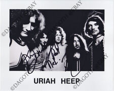 Uriah Heep 8x10 Photo - Ken Hensley Box Paul Newton Easy Livin' Autograph Signed