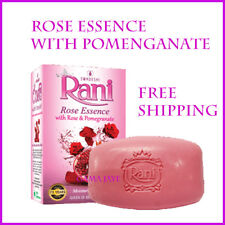 RANI SOAP ROSE ESSENCE WITH POMEGRANATE  SOAP FREE SHIPPING SWDESHI PRODUCT