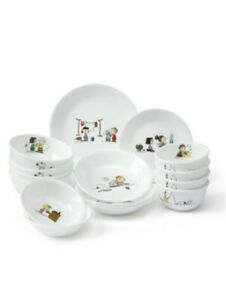 Corelle & Snoopy The Home 4Person 16Pcs Korean Harmony Set Kitchen Tableware
