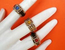 Lot 230 small ring murano stones - Alpaca Silver Adjustables - PERU