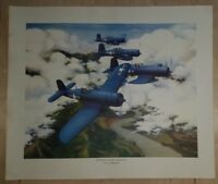 Original WW2 Chance Vought F4U Corsair Manufacturers Print Poster