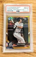 PARKER MEADOWS 2018 Bowman Draft 1st Chrome GOLD Refractor /50 SP Tigers RC