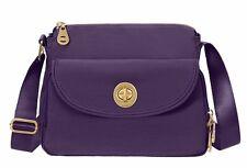Baggallini Gold Provence Crossbody Bag in Grape w/Silver Interior  (SALE!)