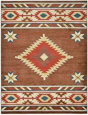 Southwestern Native American Design Area Rug Geometric Brown 5x7