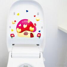 Lovely Cute Bathroom Toilet Sticker Mushroom Wall Sticker Cartoon Home Decor
