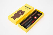 LINE Friends X LAMY Brown Fountain Pen Limited Edition Gift rare Korea NEW MINT