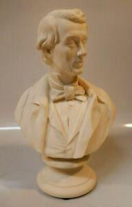19th Century William Boyton Kirk W.H. Perr Parian Worcester Bust - 1854 Irish