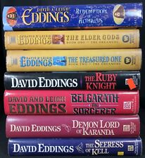 Lot of 7 David Eddings Books Malloreon Ellenium Belgrath The Dreamers Hardcovers