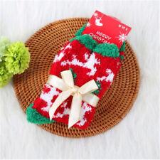 1 Pair Christmas Bed Socks Xmas Santa Fluffy Unisex Warm Stocking Filler Gift #2