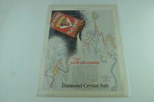 Full Page Print Ad Diamond Crystal Iodized Shaker Salt Plain Wish 0154