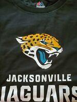 MEN'S NFL JACKSONVILLE JAGUARS MAJESTIC SIZE 2XL LONG SLEEVE BLACK T-SHIRT