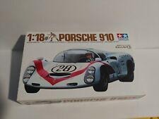 """""""Porsche 910"""" Tamiya 1/18 Scale Car  Kit 10001"""