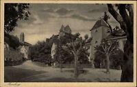 Meersburg Baden-Württemberg AK ~1920/30 Stadt Straße Häuser Schloss ungelaufen