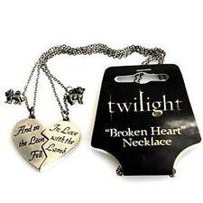 TWILIGHT - Lion & Lamb 'Broken Heart' Jewellery Necklace Replica (NECA) #NEW