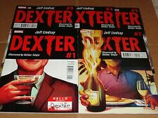 Dexter 1 2 3 4 5 Full Set 1st Prints Showtime Jeff Lindsay