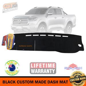 BLACK Dash Mat for GWM CANNON X 4x4 Dual Cab UTE NPW Great Wall DM1614 9/2020-22