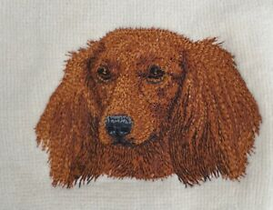 Dachshund Longhaired, TWO Hand Towels, Embroidered, Custom, Personalized