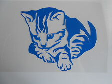 Schablone Stencil süsse Katze für Textil Airbrush Wanddeko u.v.m auf A4