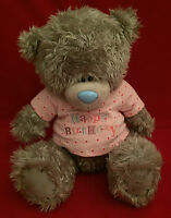 "ME TO YOU BEAR TATTY TEDDY 12"" HAPPY BIRTHDAY PINK T-SHIRT BEAR GIFT"