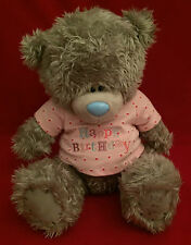 "ME to You Tatty Teddy Bear 12"" Buon Compleanno Rosa T-SHIRT orso regalo"