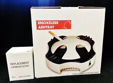 New Worlds Best SMOKELESS ASHTRAY With 8 Carbon Filters & Free Shipping