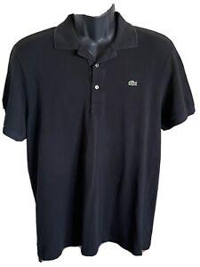 Lacoste Black Tshirt Polo Size 7