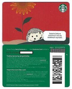 Geschenkkarte Starbucks Card Poland Polen Herbst Igel Hedgehog -0731-