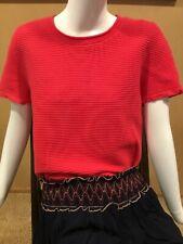 Ann Taylor Size L coral top shirt sweater T 10 12 MINT!!! Cotton blend