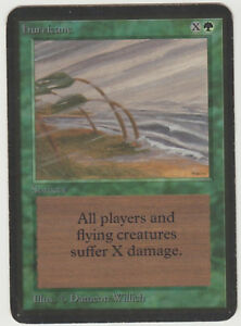 MTG ALPHA - HURRICANE - NM/EX CONDITION - MAGIC THE GATHERING 'UNCOMMON'