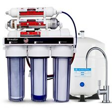 RO - Reverse Osmosis Alkaline/Ionizer Neg ORP Water Filter System 75 GPD 6 Stage