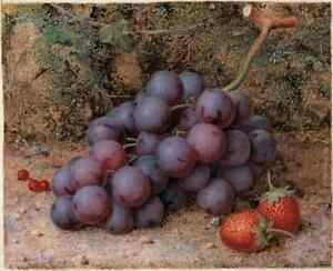 WILLIAM B HOUGH (1829-1897) Watercolour Painting STILL LIFE FRUIT - 19TH CENTURY