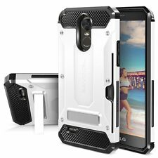 LG Stylo 3 Case Heavy Duty Full-Body Metal Kickstand Stand Cover Card Slot