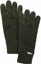 Victorian Trading Co Gray Houndstooth w// Bow Trimmed Wool Gloves SM