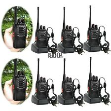 NEW 6 x Baofeng Walkie Talkie UHF 400-470MHZ 2-Way Radio 16CH BF-888S Long Range