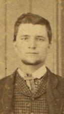CIVIL WAR ERA CDV. MAN STANDING WITH HAT IN HAND. PARKERSBURG, WEST VA. RARE.