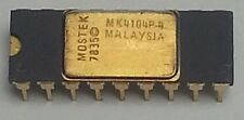 1pc.  MK4104P-4  MOSTEK 1978 GOLD CERAMIC  NOS