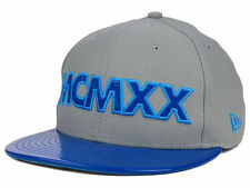 New Era Branded DIAMOND Patent Gray and Blue 59fifty Pro Back Fitted Hat 7 3/8