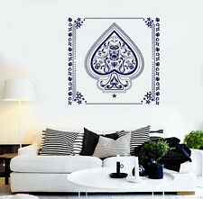 Vinyl Wall Sticker Aces of Spades with Flowers Pattern black white design (n689)