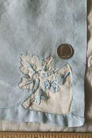"7 Vintage Sky Blue Linen Marghab-Madeira 16"" Square Table Napkins"