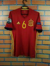 Spain soccer jersey Medium 2016 2017 home shirt Adidas football soccer AI4411