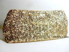 New Victoria's Secret Sparkling Gold Sequins Clutch/Purse