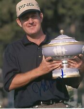 JEFF MAGGERT signed 8x10 PGA TROPHY photo with COA