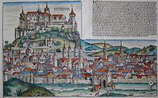 Herbipolis - Würzburg - Schedel - Originaler Holzschnitt von 1493