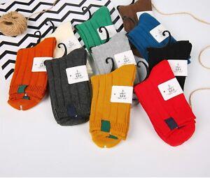 2 Pairs Ladies Womens Plain Coloured Design Socks Cotton Blend Adults 4-7