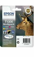 Genuine Epson T1306 CMY Multipack Ink Cartridges Stag