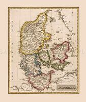 MAP ANTIQUE LUCAS 1814 GENERAL ATLAS DENMARK LARGE REPLICA POSTER PRINT PAM0998