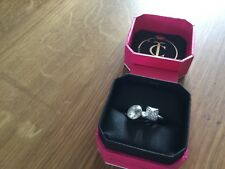 NIB Juicy Couture New & Genuine Silver Plated & Clear Gemstone & Diamante Rings