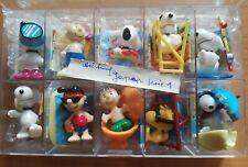 1x Ü Ei Komplettsatz JAPAN 1 Peanuts Snoopy am Strand + Allen Beipackzetteln