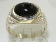 Birthday Oval Onyx Sterling Silver Fine Rings